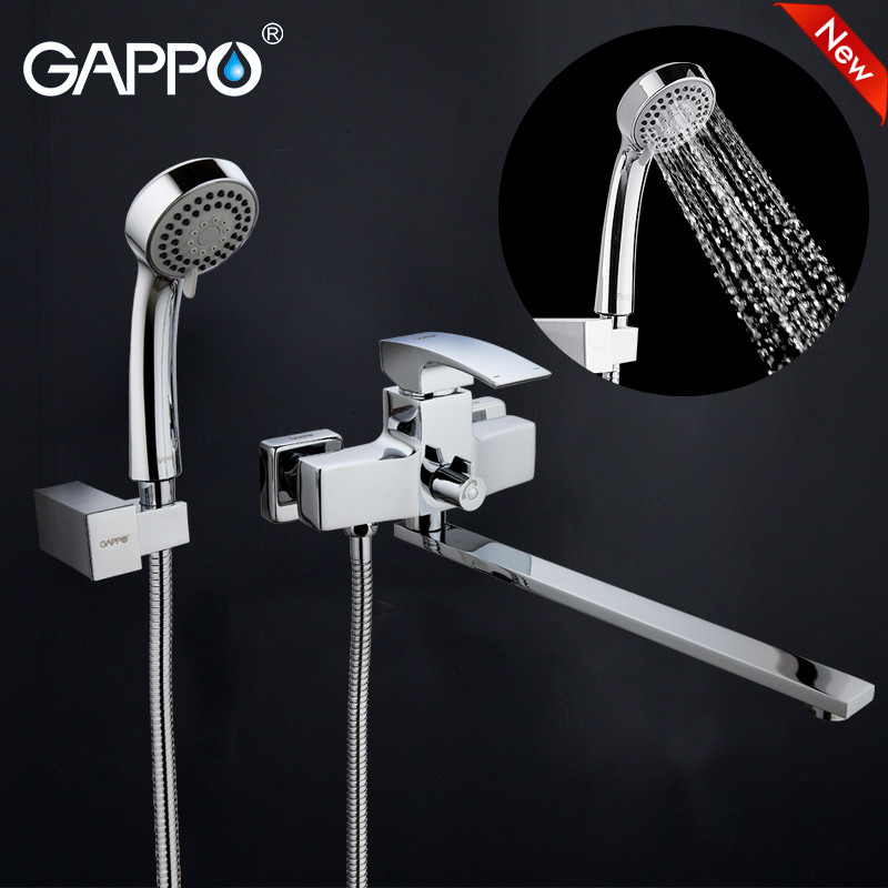 GAPPO Waterfal bathtub sink faucet mixer bathroom shower Faucet Wall bathtub taps basin sink mixer Bath Shower set tap GA2207 индукционная варочная панель gorenje gis 67 xc
