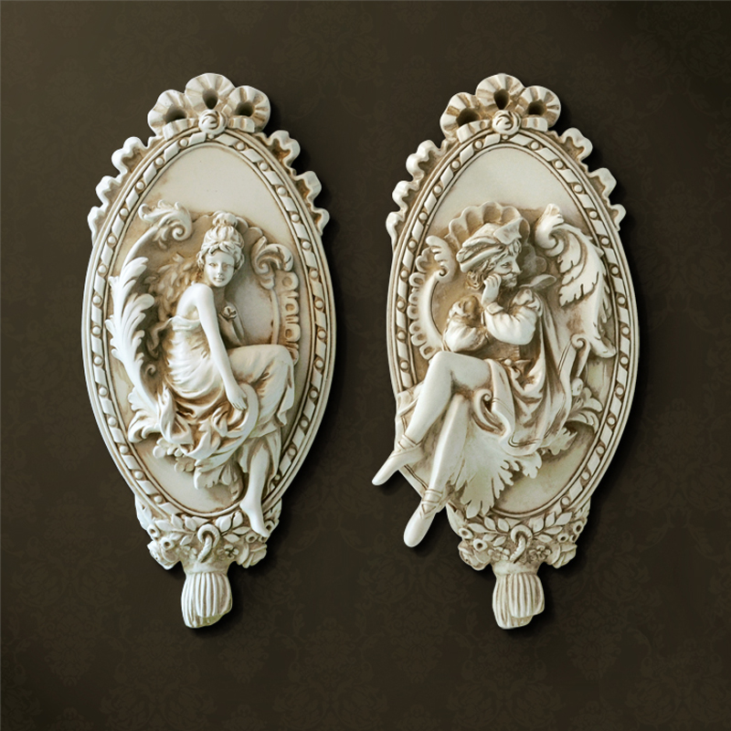 3D Angel Sculpture Home Statue Decoration Accessories Wall Mural Hanging Resin Statues Decor Christmas Decorative Art Ornaments3D Angel Sculpture Home Statue Decoration Accessories Wall Mural Hanging Resin Statues Decor Christmas Decorative Art Ornaments