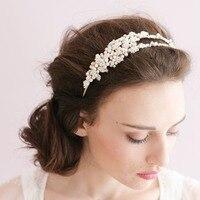 New Handmade Fashion Bride Hair Accessory Hair Bands Wedding Accessories Headband White Floral For Ladies Wear O017