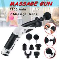 Electronic Therapy Body Massage Gun Deep Muscle Massager Relief Pain Portable Massage Product Machine with 7 heads
