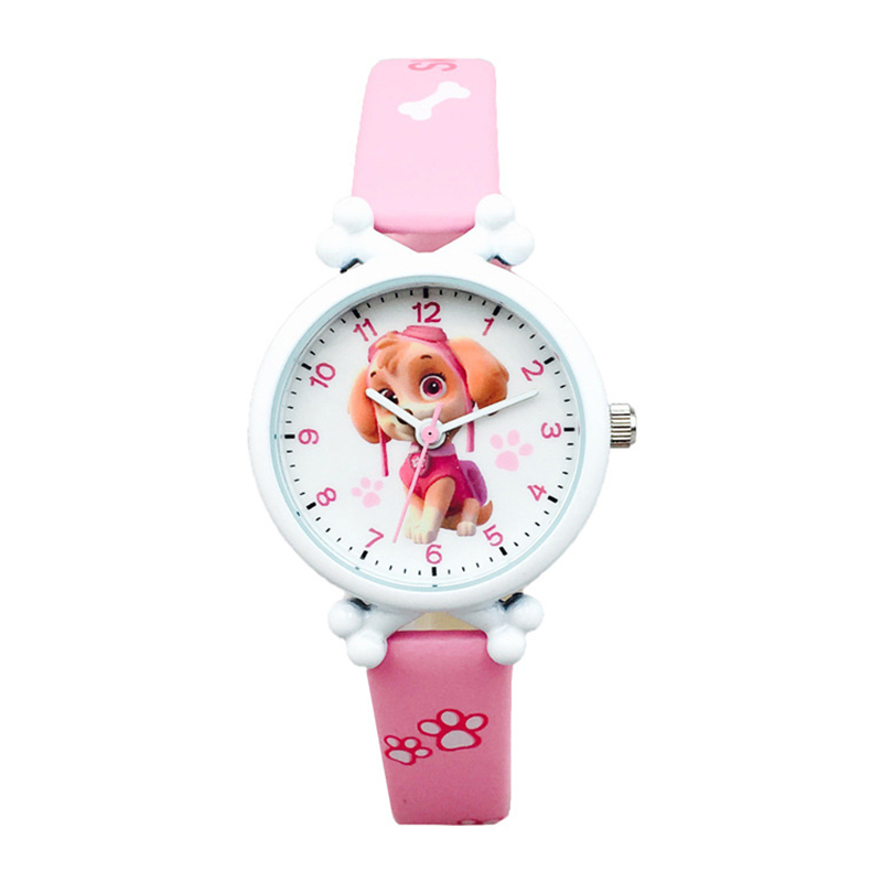 New Paw Patrol Cartoon Figure Watch Toys Children 39 s Electronic Waterproof Watch Leather Strap Boys Girl Quartz Watch Kids Gift in Action amp Toy Figures from Toys amp Hobbies