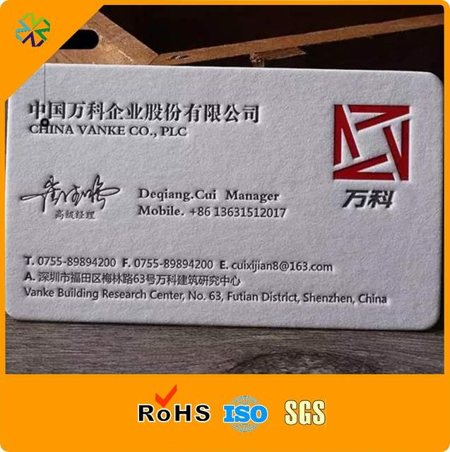 Us 117 78 400g Cotton Paper Both Side Printing Paper Business Cards Letter Press Paper Card In Business Cards From Education Office Supplies On