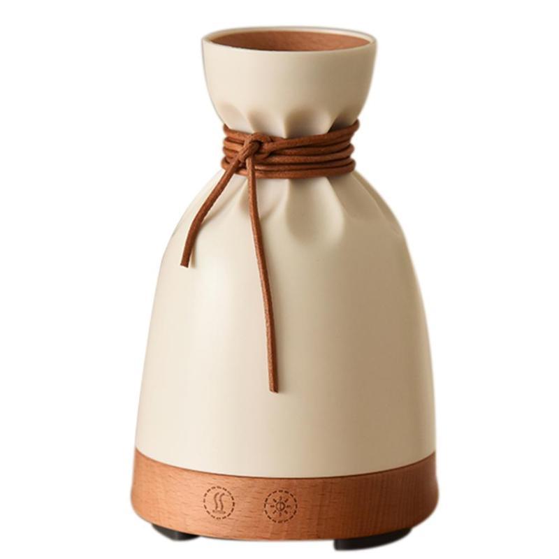 140ml Wood Grain Aroma Essential Oil Diffuser Air Humidifier Night Light