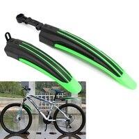 マウンテンバイク自転車サイクリングフロントリアマッドガードセット黒緑 -
