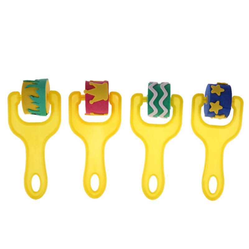 4Pcs-Creative-set-for-kids-yellow-sponge-brushes-children-kids-painting-graffiti-toys-plastic-handle-drawing-brush-drawing-toys-1