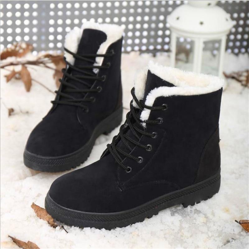 Black Boots Boots Moda Calzado Winter Botas Gamuza Nieve Invierno Boots red Confort De Zapatos Boots Piel yellow Tamaño Más blue gray Boots Mujer 7dwBfqS6