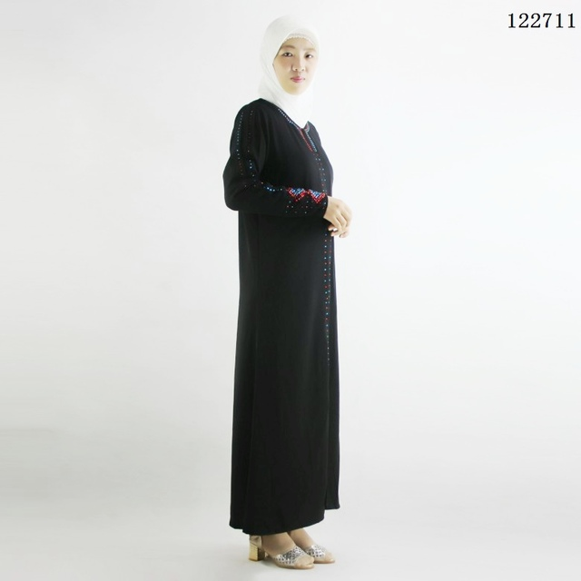 Crystal islamic abaya linen clothes turkey