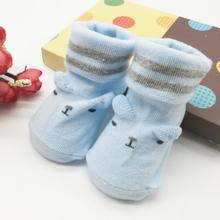 New Cute Toddler Newborn Baby Socks Boy Girl Soft Sole Anti-slip Socks Infant Holiday Birthday Gifts(China)