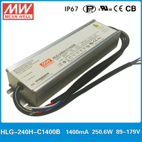 Original Meanwell HLG 240H C1400B Constant Current LED Driver 1400mA 250W Dimming High Power Supply PFC