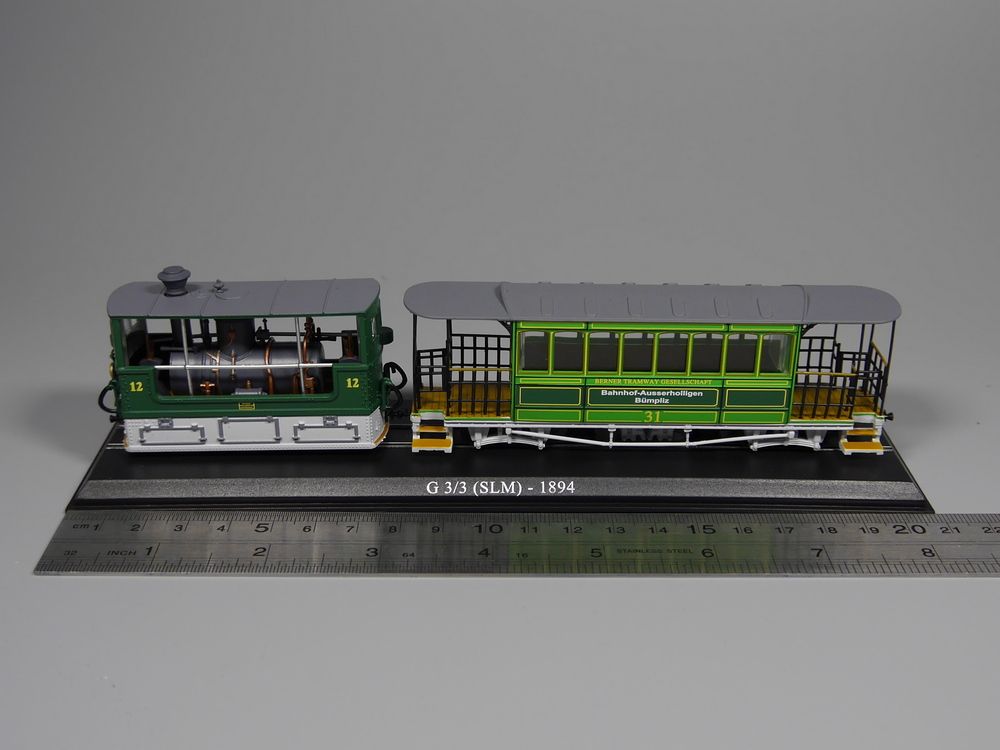 Ho Scale Model 1:87 Scale Tram G 3/3 (SLM) 1894 Diecast Model Car