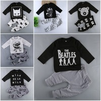 Baby Boy Sets Boy S Girl S Clothing Summer Autumn Cartoon Long Sleeve Pant 2pcs Baby