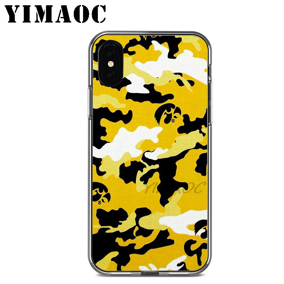 YIMAOC Camouflage Art Soft Silicone Case for Apple Iphone 11 Pro Xr Xs Max X 10 8 Plus 7 6S 6 Plus SE 5S 5 7Plus 8Plus in Fitted Cases from Cellphones Telecommunications