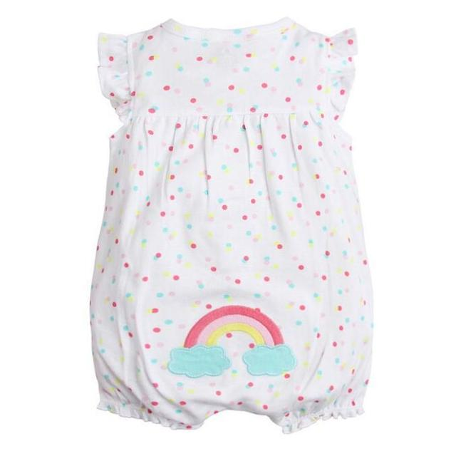 Sleeveless Rompers for Baby Girls with Various Colorful Designs