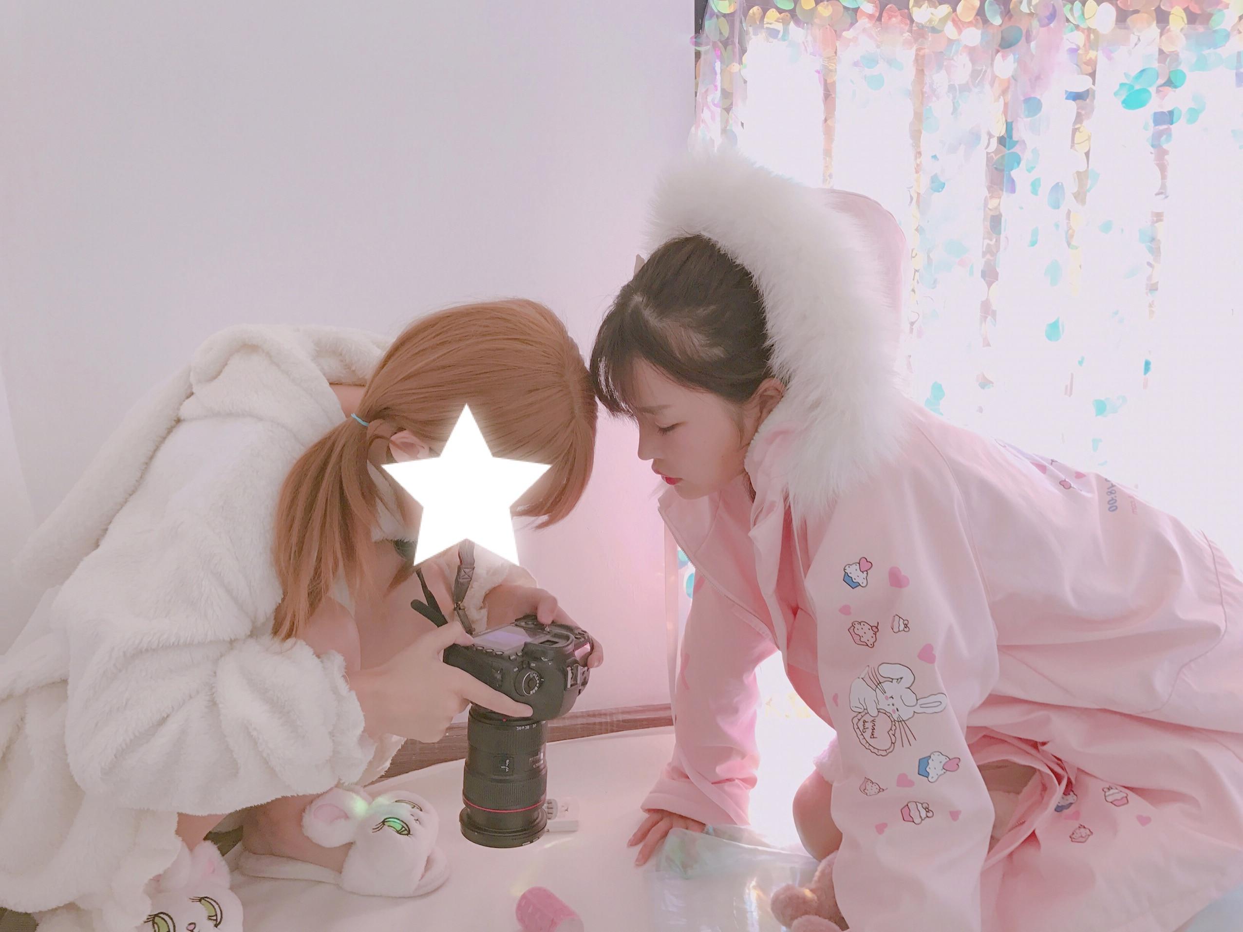 Super Cute Inverno delle Donne Kawaii Rosa Addensare Parka Cappotto Manica  Lunga Faux Cappello di Pelliccia di Coniglio Del Fumetto Del Modello Lolita  ... 5ad047c729d6