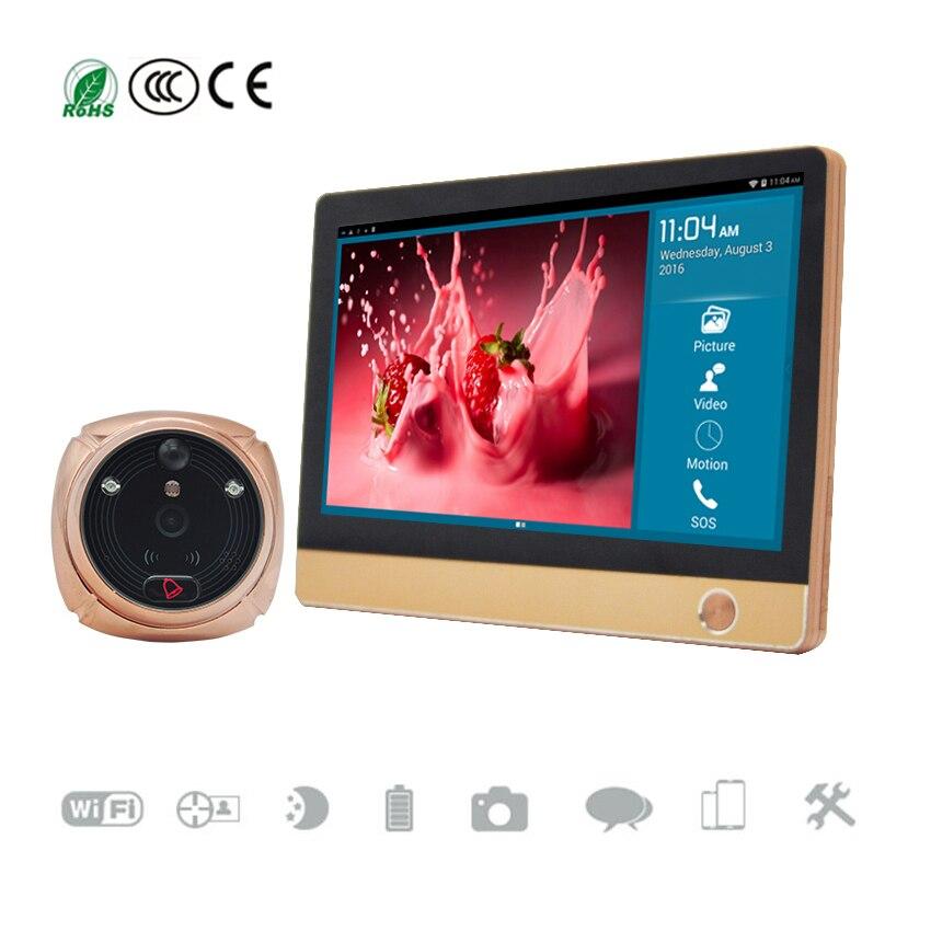 7 TFT Touch Screen WiFi Wireless Doorbell 1080P font b Door b font Viewer GSM GPRS
