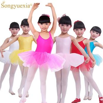 2a44b6be9 2016 Nuevas Muchachas Vestido De Muchacha de Los Niños Ropa de Baile de Ballet  niños Trajes De Ballet Para Niñas Danza Leotardo ropa de Baile Chica 6 Color