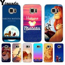 Yinuoda lion king movie Kleurrijke Telefoon Accessoires Case voor samsung galaxy S9 S7edge S6 rand plus S8 Plus s7 Note 9(China)