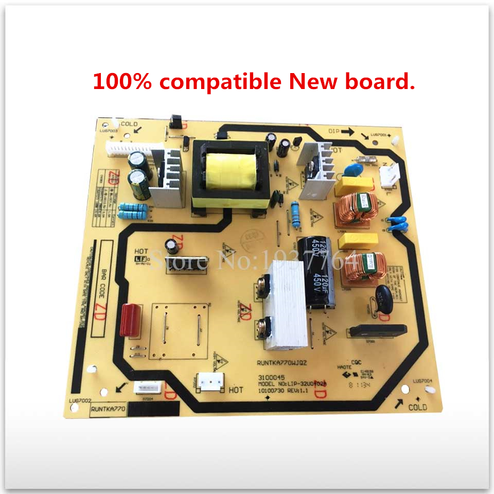 100% compatible New board for LCD-32GE220A LCD-32Z120A RUNTKA770WJQZ LIP-32U0402A power supply board good working good working original used for power supply board led50r6680au kip l150e08c2 35018928 34011135