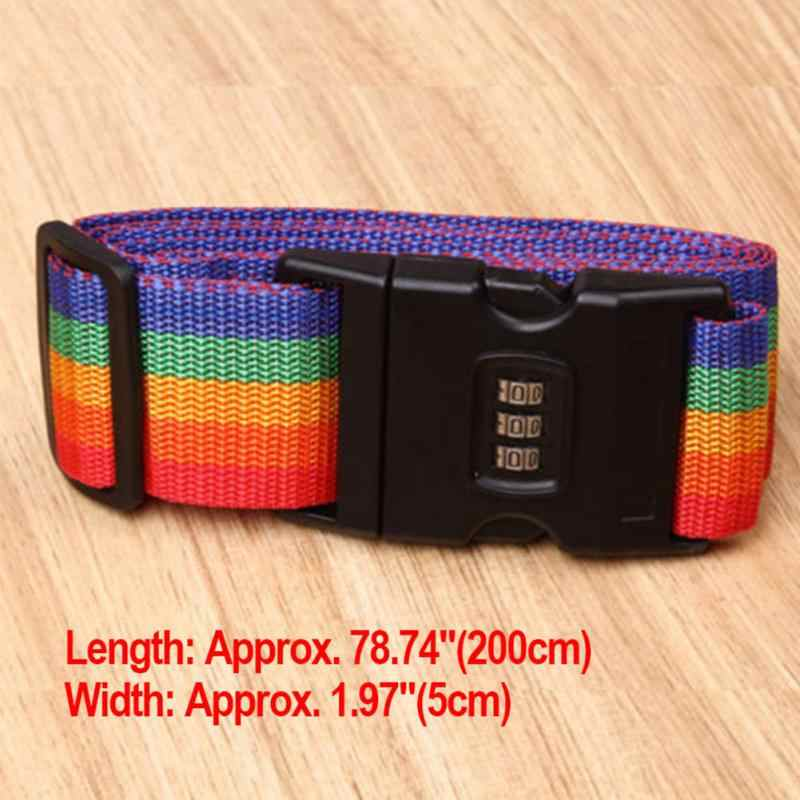 Adjustable Safety Belt with Three Digit Combination Lock for Travel Luggage Suitcase Band Packing Blet Strap Travel Accessories
