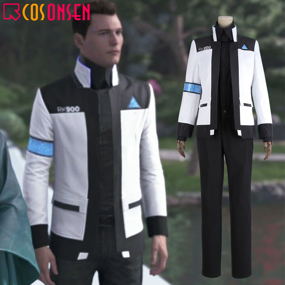 Detroit Become Human Connor 900 Cos Rk900 Agent Suit Uniform Cosplay Costume Cosplayonsen Customize Made Movie Tv Costumes Aliexpress