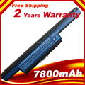 7800mAh Battery For Acer Aspire V3 V3-471 V3-551 G V3-571 V3-731 V3-771 FOR eMachines E732 FOR TravelMate 4370 4750G 9 CELLS