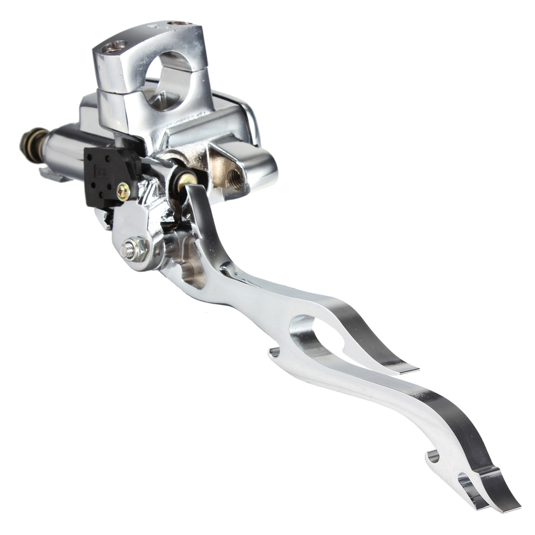 1 inch 25mm Chrome Motorcycle Flame Brake Master Cylinder Right For Harley chopper
