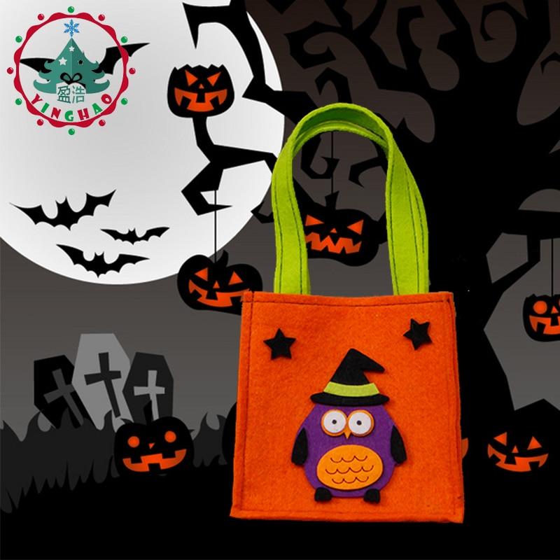 inhove ugle græskar farve taske børn taskebørn børn halloween - Varer til ferie og fester - Foto 6