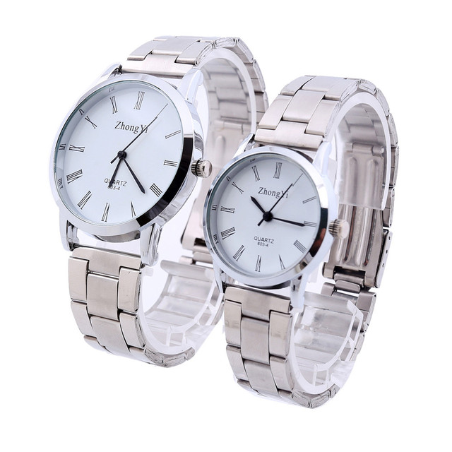 Fashion Man Women Couple Watches Fashion Brand Casual Quartz Wristwatch Stainles