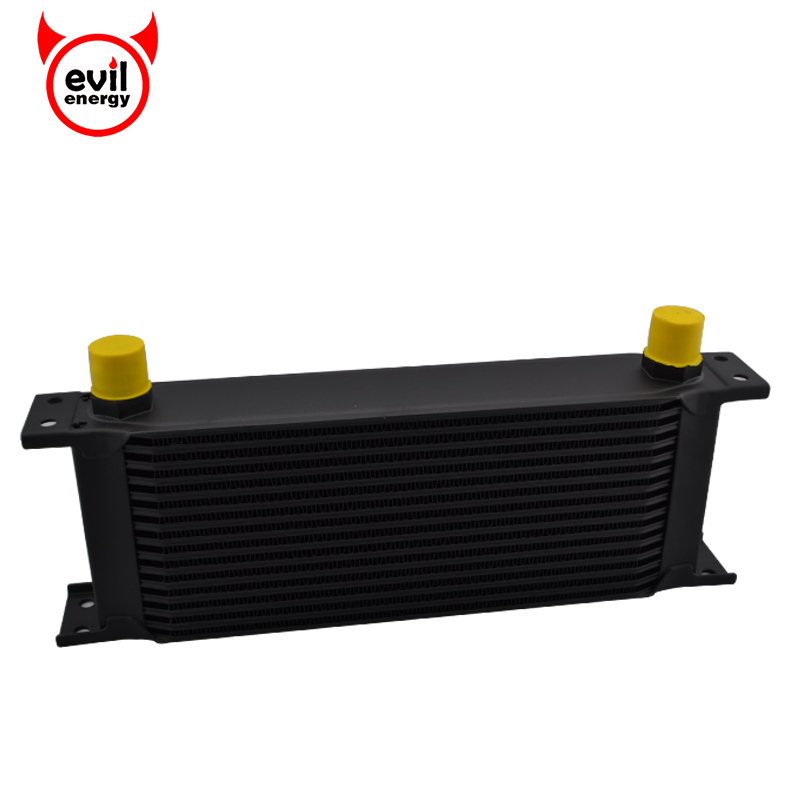 evil energy Universal 15 Row 10AN Engine Oil Cooler Thermostat Adaptor Engine Racing Oil Cooler Kit For Car universal 28 row jdm engine oil cooler kit sandwich plate fit for ls1 ls2 ls3