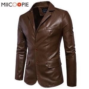 Image 1 - Marca Moto Giacche In Pelle Da Uomo Inverno Primavera Giacche di Pelle Abbigliamento Maschile di Business In Pelle Casuale Uomini Giacca Cappotti 5XL