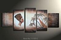 Ручная Роспись Современные Аннотация Египетские Пирамиды Высокими Пальмами Картина Маслом На Холсте Чулок Пейзаж Стены Pop Art Deco Продажа