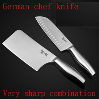 MIKALA High Quality Stainless Steel 2 Pcs Kitchen Set Knife Japanese Chef Knife Vegetable Fruit Paring