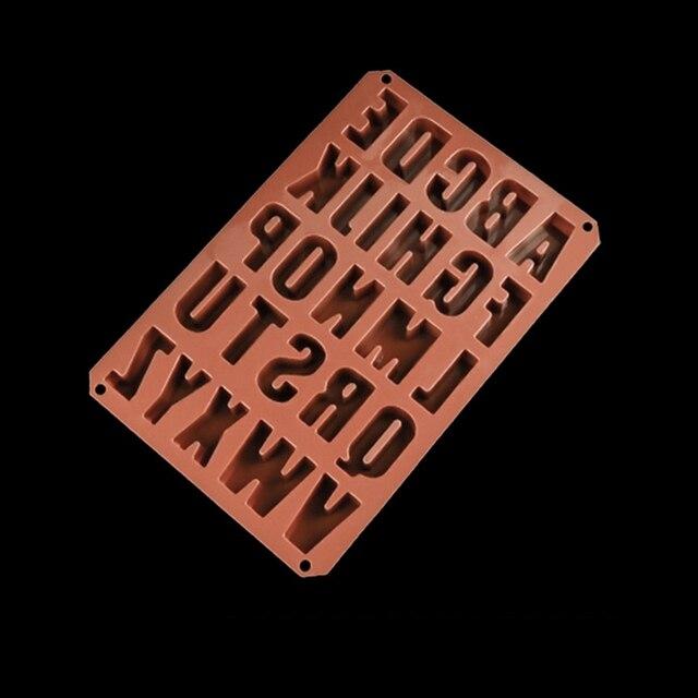 Nuovi Alfabeti/Lettere Ice Cube Chocolate Candy Sapone Del Silicone Muffa Del Ghiaccio Della Gelatina Muffa Creatore Del Vassoio Della Torta Del Silicone Decorazione