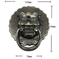 משוך ידית דלת ריהוט ראש אריה בציר הסיני פליז בציר  15 ס