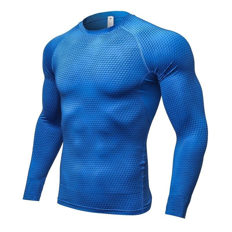 T-Shirt Sweat Cycling Jurseys-Running-Training Long-Sleeved Fitness Men 3d-Printing Tight-Fitting