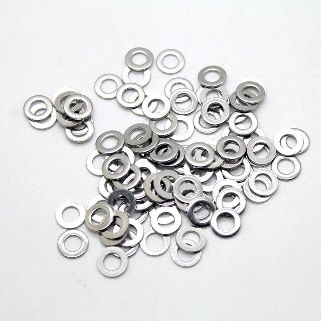 100Pcs DIN125 ISO7089 M1.6 M2 M2.5 M3 M3.5 M4 M5 M6 M8 M10 304 Stainless Steel Flat Machine Washer Plain Washer