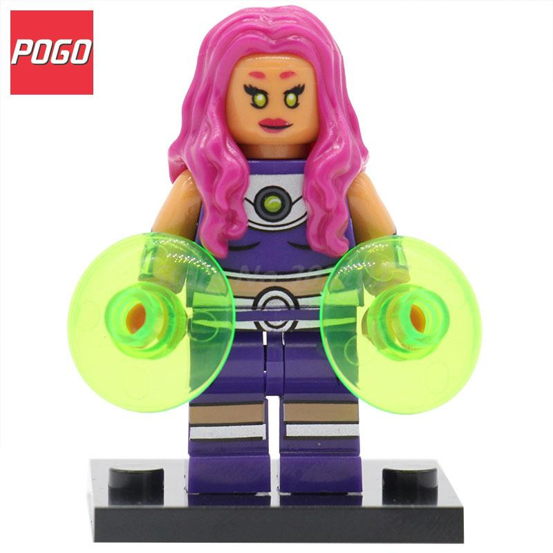 POGO Starfire DC Legion of Super Heroes Action Blocks Mini Dolls Building Brick Set Single Sale