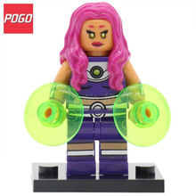 POGO Starfire DC Legion of Super Heroes Legoedly Blocks Mini Dolls Building Brick Single Sale Educational