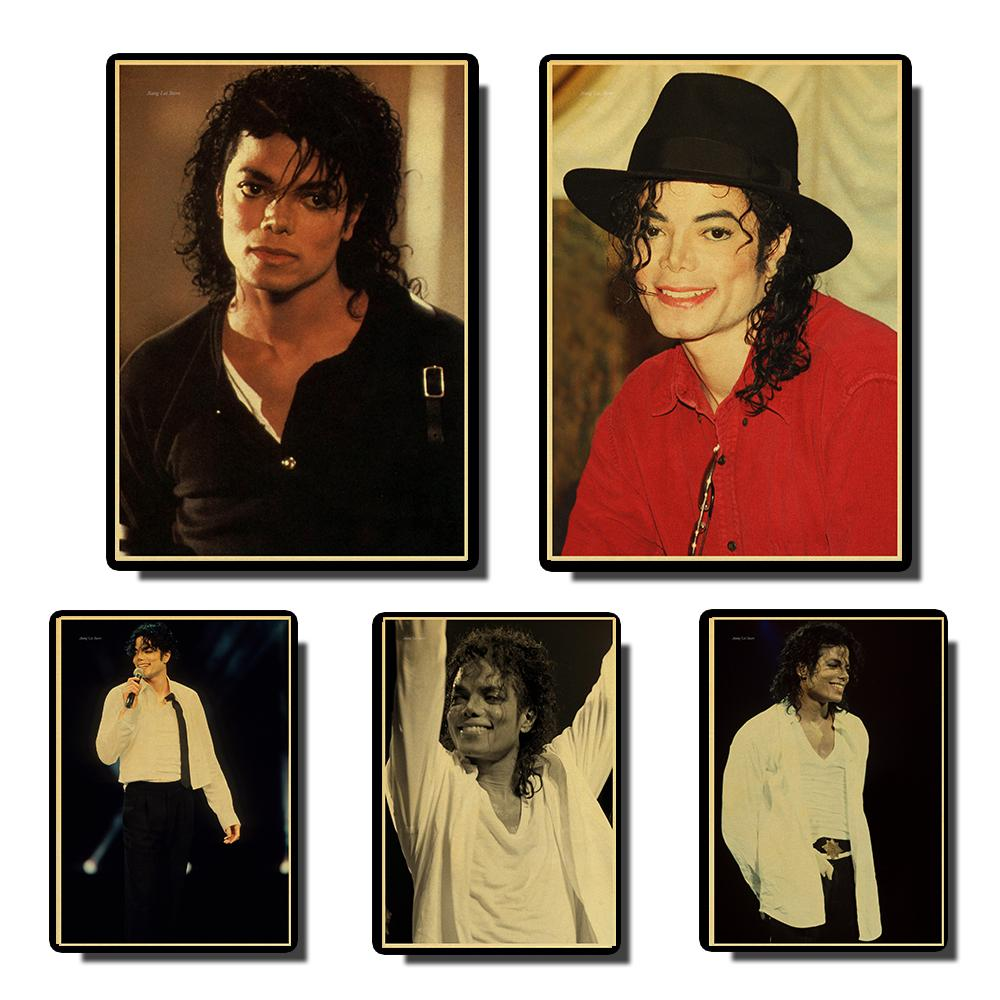 Michael Jackson Classic Poster Vintage Posters Prints Wall Painting High Quality Decor Poster Wall Painting Home Decoration