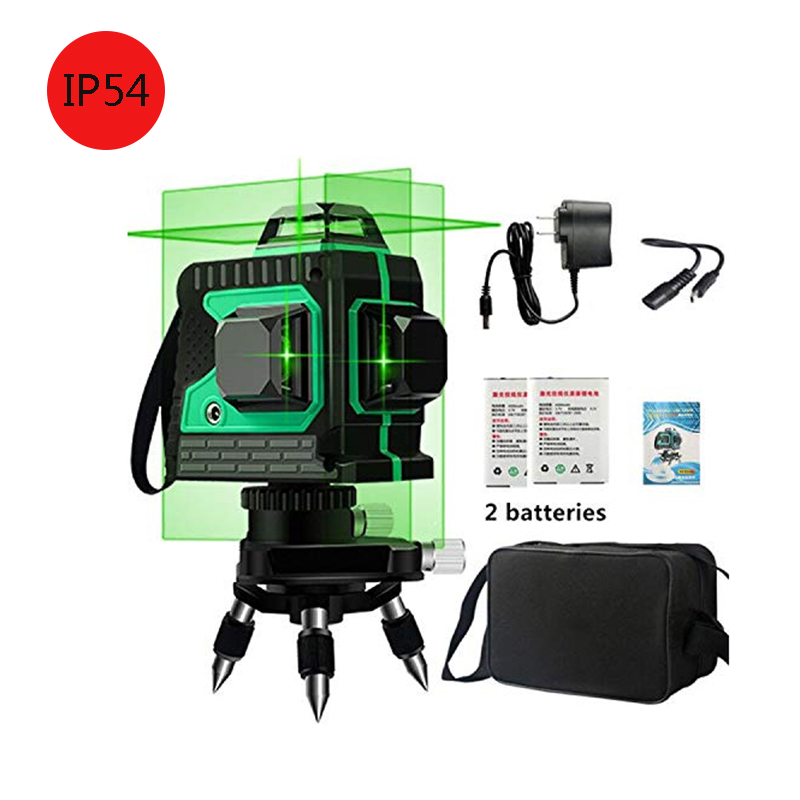 12 Lines 3D Green Laser Level Self-Leveling 360 Degre Horizontal And Vertical Cross Lines Green Laser Line With Tripod12 Lines 3D Green Laser Level Self-Leveling 360 Degre Horizontal And Vertical Cross Lines Green Laser Line With Tripod