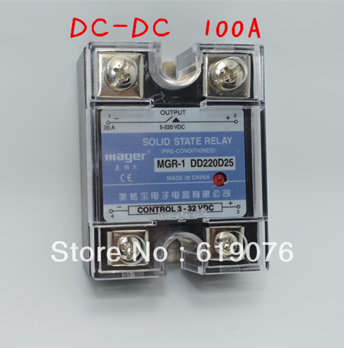 Mager SSR 100A DC DC Solid state relay Quality Goods MGR 1 DD220D100 aliexpress com buy mager ssr 100a dc dc solid state relay Solid State Relay Schematic at soozxer.org