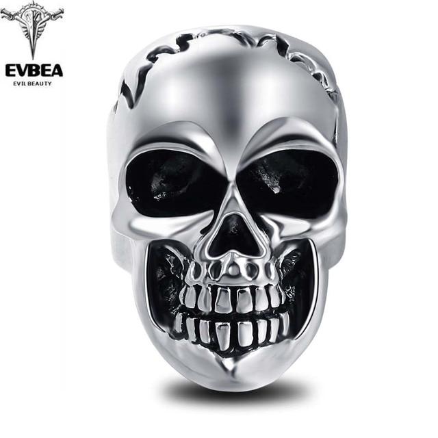 Adjustable Wholesale Men Jewelry Metal Skull Bikers Ring