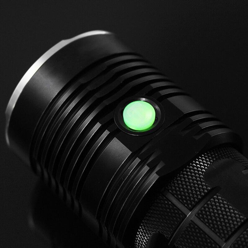 JIGUOOR Ultra Luminosa della torcia HA CONDOTTO LA Torcia Elettrica IPX 8 Impermeabile Q8 4x XP L 5000LM Professionale Più Procedura di Funzionamento 18650 - 5
