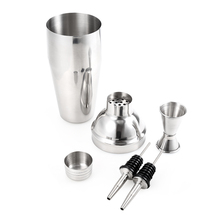 750 ml Edelstahl Professionelle Bartender Cocktail Shaker Kit mit Mixer Jigger Ausgießer Sicher und Langlebig Barware Werkzeuge