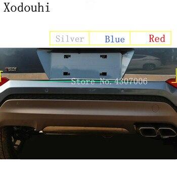 Para Hyundai tufson 2015 2016 2017 2018 cubierta de coche de acero inoxidable puerta trasera maletero embellecedor de placa de estructura de maletero bomba 1 Uds