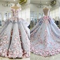 2017 Ball Gown Quinceanera Dresses Off Shoulder Applique Flowers Bows Satin Prom Dresses Illusion Back Chapel Train Prom Gowns
