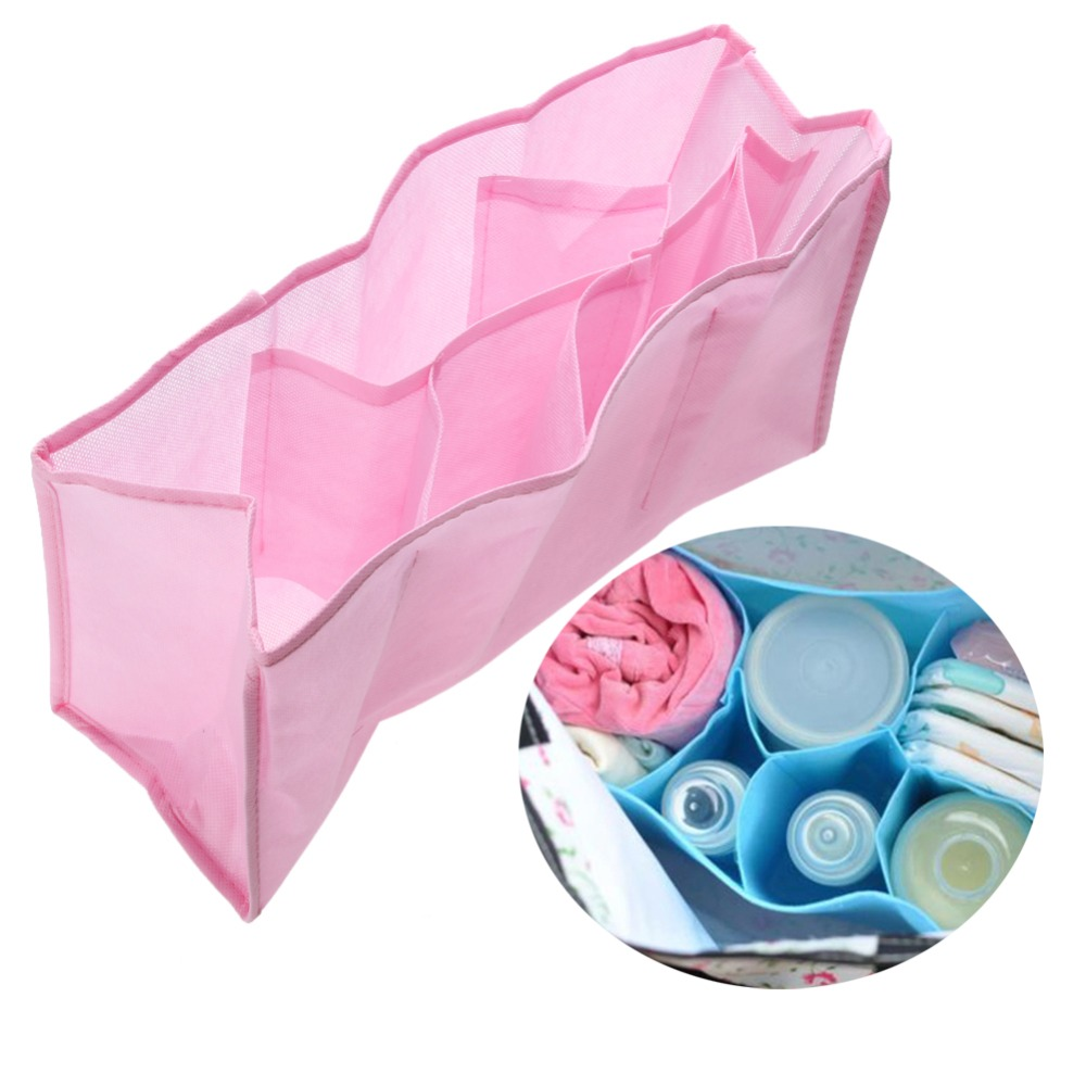 Infant Nappy Organizer Baby Mummy Bag Multifunctional Separate Bag Non-woven Diaper Storage Organizer Bag Liner For Travel