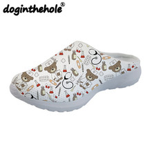 doginthehole Cute Nurse Bear Pattern Sport Sandals Outdoor Slippers for Girls Women Beach Shoes Female Sneakers Zapatos Mujer