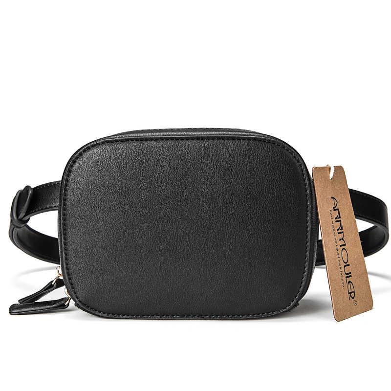 Annmouler Модная брендовая поясная сумка высокого качества, Женская поясная сумка из искусственной кожи, красная поясная сумка, набедренная сумка для женщин, 2 поясные сумки