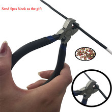 Hunting Pliers Bow D String Loop Copper Buckle Nocking Archery Plier Precision Send 5pcs Brass nocks as the gift